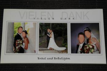 Hochzeit Danksagungskarte Beispiel