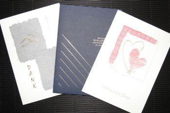 Karten zur Danksagung Hochzeit Dankeskarte Trauung Feier